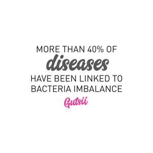 40% of diseases linked to bacterial imbalances.