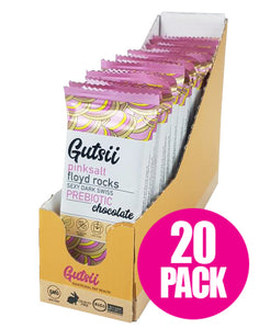 Gutsii Prebiotic Dark Swiss Chocolate - Pinksalt Floyd Rocks 21 x 25g Box Set USA