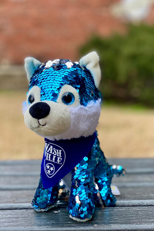 Load image into Gallery viewer, Plush toy stuffed Blue Fox Bling 8""