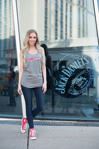 Tri Star Guitar - Women's Tri-Blend Flowy Tank - Heather Grey