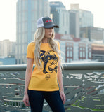 Stanley the Catfish Tee - Women's - Gold