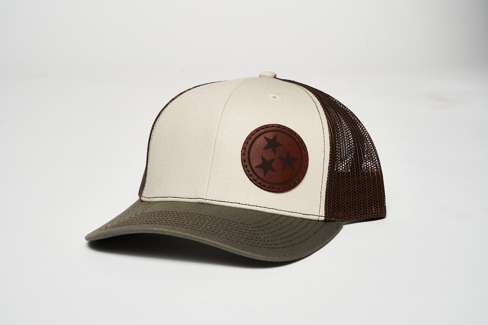 Tri Star Leather Patch Structured snap back
