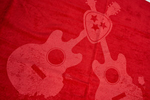 Load image into Gallery viewer, Nashville Music City Beach Towel Red