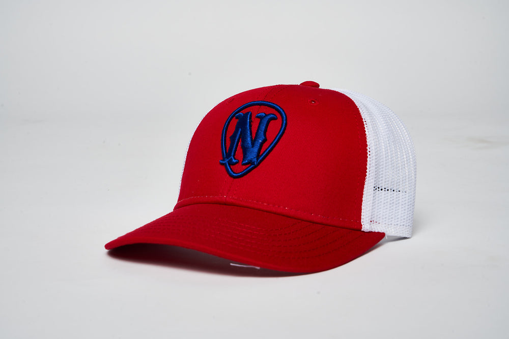 Youth Red White & Blue Snap Back Hat - Red,White, Blue