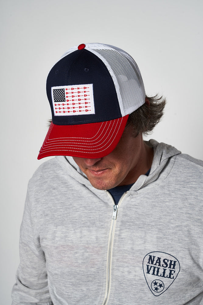 Load image into Gallery viewer, Music City Flag Patch Hat