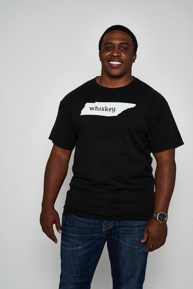 State of Whiskey Comfort Wash Black Tee