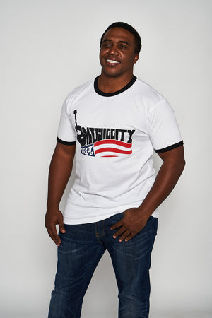 Load image into Gallery viewer, Music City USA Throwback Ringer Tee