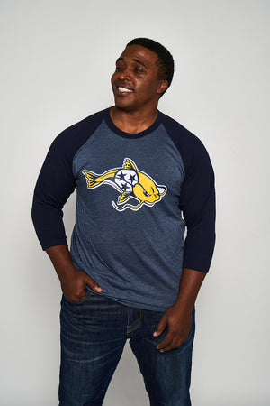 Load image into Gallery viewer, Stanley The Catfish 3/4 Sleeve Raglan