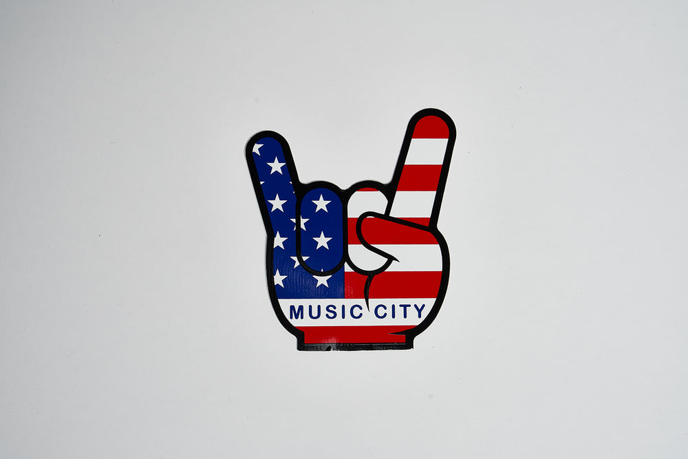 HARD ROCK MUSIC CITY Decal  - 3.5