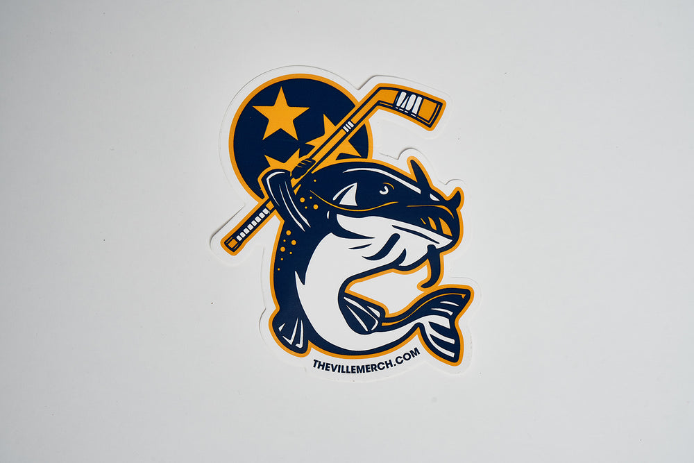 Stanley the Catfish Hockey DECAL