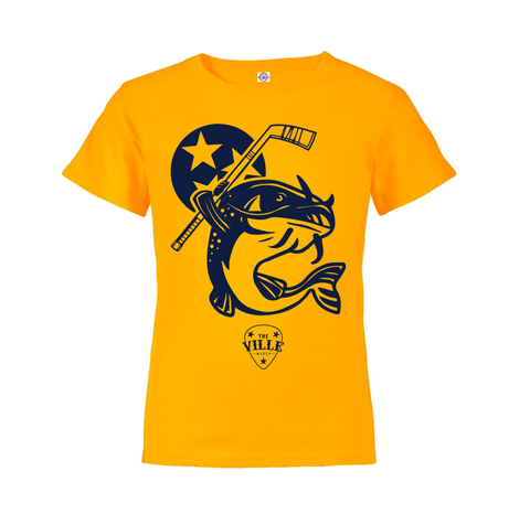 Stanley the Catfish Tee - Youth - Gold