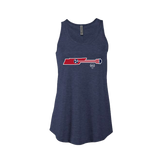Tri Star Guitar - Women's Tri-Blend Flowy Tank - Navy Heather