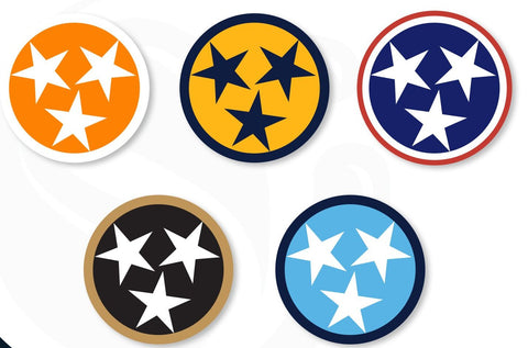 "3"" TRI STAR DECAL Variety 5 Pack"