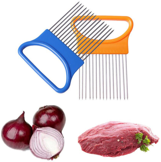 1PC Tomato Onion Vegetable, Meat, Slicer Cutting Aid Fork