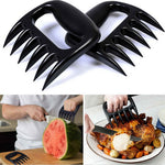 1Pair Bear Paws Claws Meat Handler, Forks Tongs Pull Shred Pork Roasting Forks