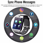 Bluetooth Smart Watch Android Phone Call Relogio 2G GSM SIM TF Card Camera for iPhone Samsung etc.