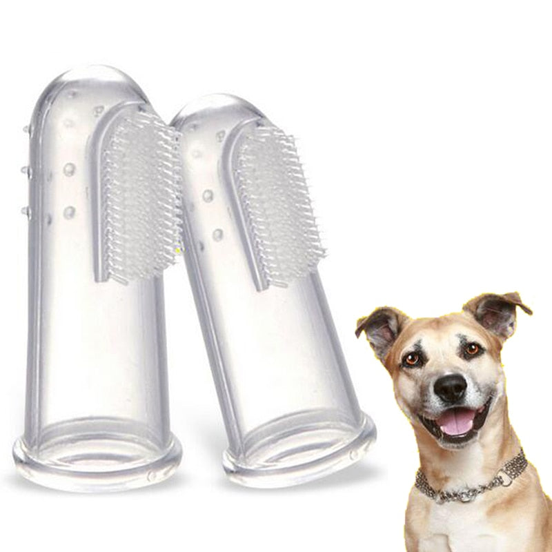 New Soft Finger Toothbrush Pet Dog Cat Teeth Care