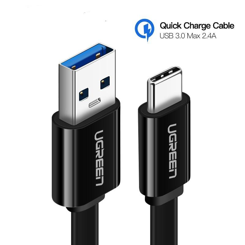 USB Type C Cable for Samsung Galaxy S9 Note 8 9 USB 3.0 Type-C USB C 2.4A