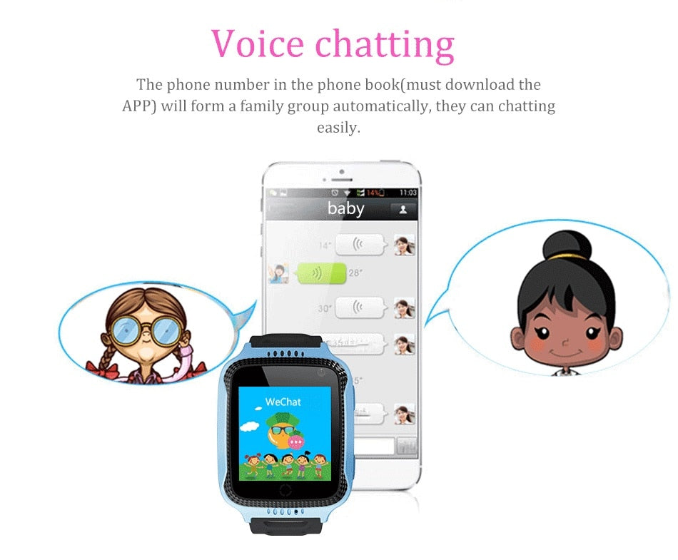 GPS Kids Smart Watch with Touch Screen, Camera, Tracker Smart watch children Monitor, SOS.