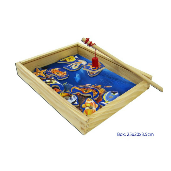 Magnetic Fishing Game Wooden