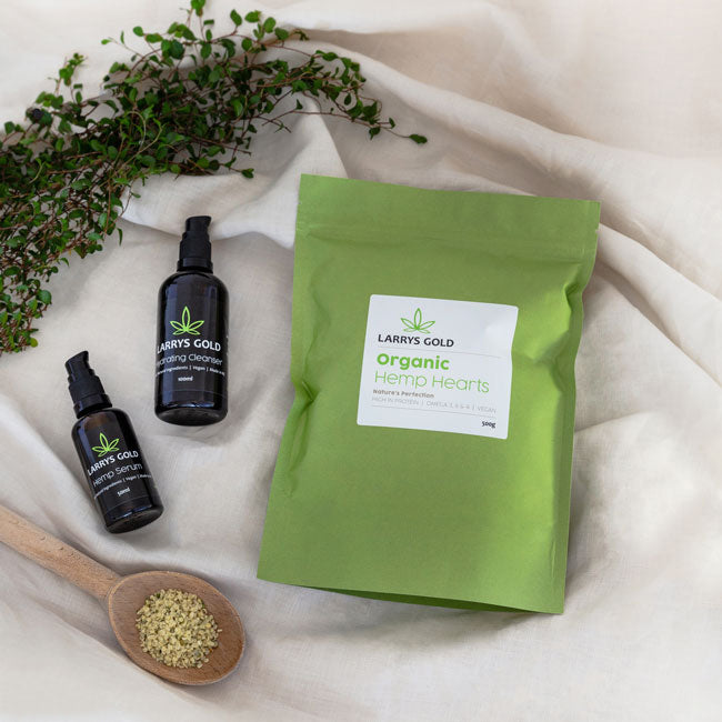 Larrys Gold Revive Natural Hemp Skincare gift pack
