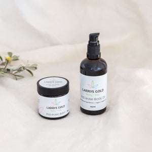 Larrys Gold Hemp Kid Ease Natural Hemp Skincare Combo