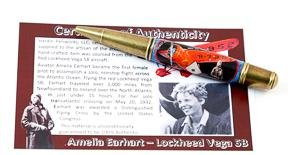 Gatsby Twist Amelia Earhart Collectible in Antique Brass - 3 Gen Pen Company