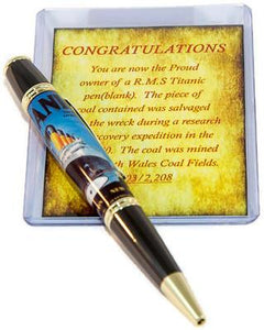 Gatsby Twist Titanic Pen with Gun Metal/Gold Accents - 3 Gen Pen Company
