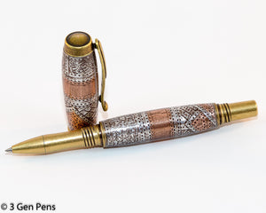 Jr George Antique Brass Steam Punk Style Rollerball Pen - 3 Gen Pen Company