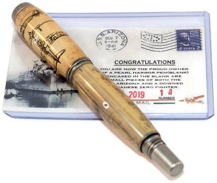 Pearl Harbor Historical Jr George Antique Brass Rollerball Pen - 3 Gen Pen Company
