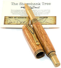 Load image into Gallery viewer, Shawshank Tree Jr George Antique Brass Rollerball Pen - 3 Gen Pen Company