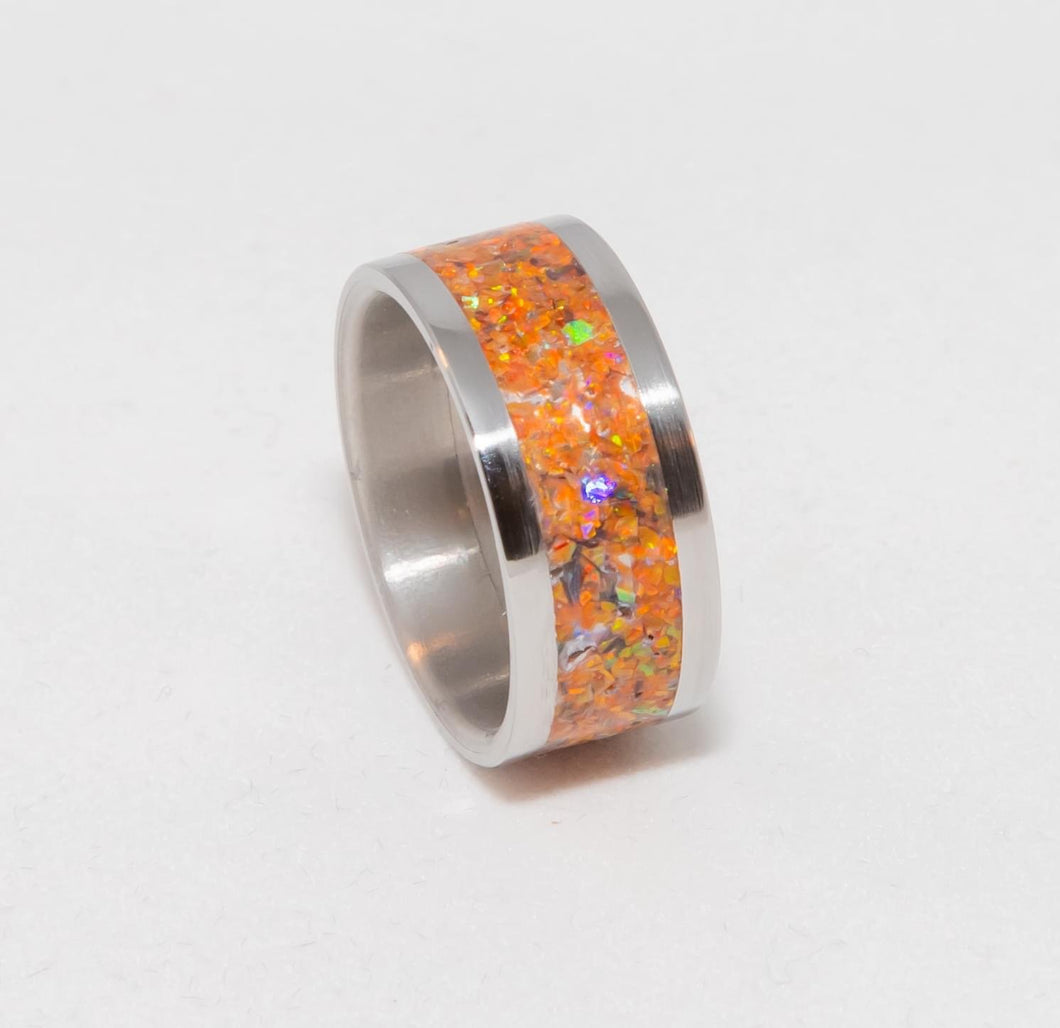 Stainless Steel Opal Rings - Various Colors Available - 3 Gen Pen Company