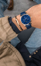 Load image into Gallery viewer, Venice Moonphase Rose Gold Blue