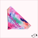 """BIRTHDAY GIRL"" - Over-Collar Dog bandana"