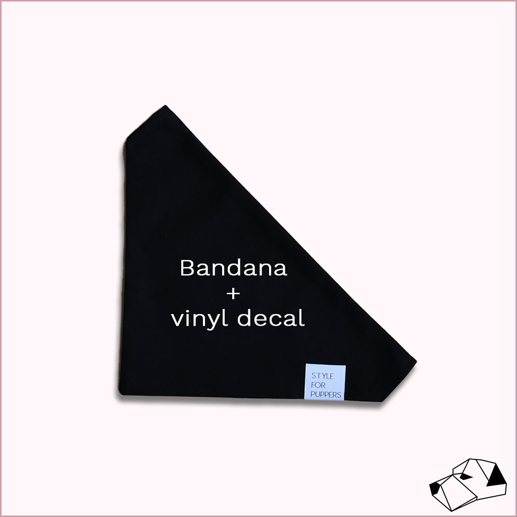 """DESIGN YOUR OWN (Black)"" - Dog bandana with embroidery"