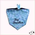 """BIG/LITTLE BROTHER"" - Tie-Up/Snap Dog Bandana"