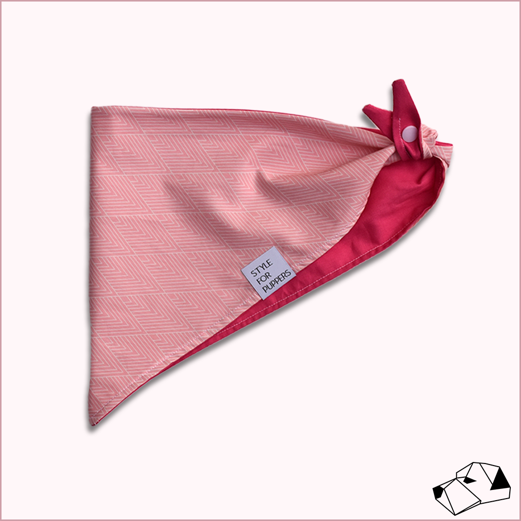 """FLAMINGO"" - Tie-Up/Snap Dog Bandana"