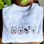"""GREY MERLE"" - Multiple Mini Me's Custom Embroidery Crew"