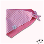 """SWEET GINGHAM"" - Tie-Up/Snap Dog Bandana"