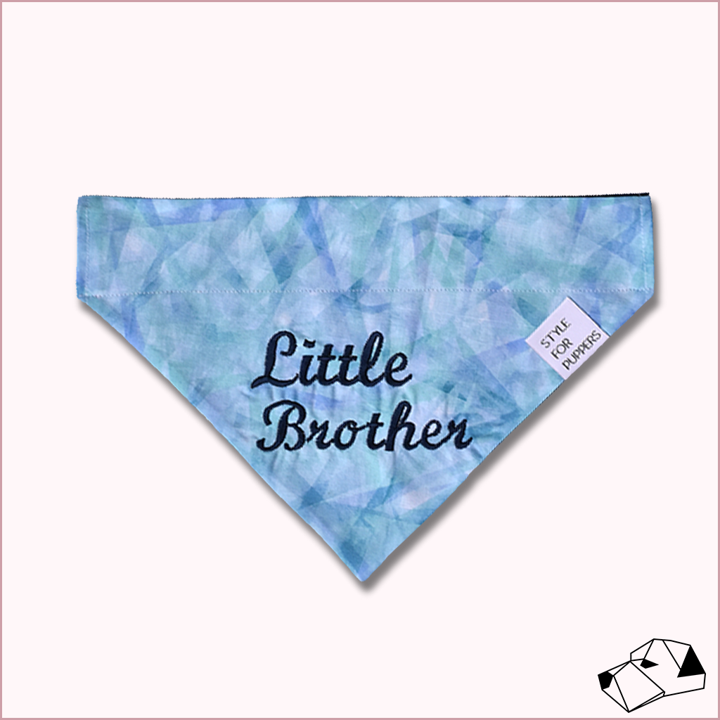 """BIG/LITTLE BROTHER"" - Over-Collar Dog bandana"