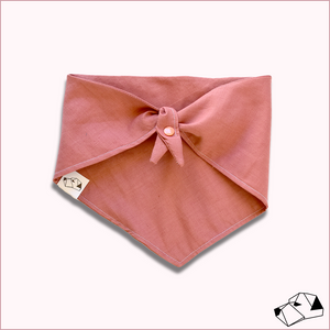 """ROSE"" - Linen Tie-Up/Snap Dog Bandana"