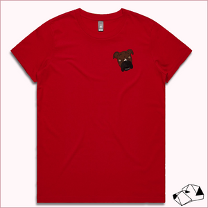 """RED"" - Mini Me Custom Embroidery T-shirt"