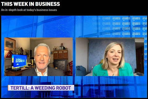 Tertill and Helen Greiner on NECN This Week in Business - talking about how to have a weed-free garden with Tertill the weeding robot for home gardens.