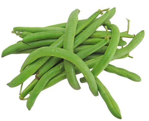 Green beans on whte