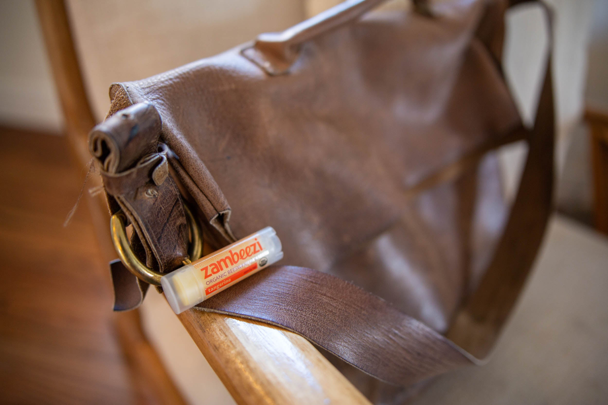 The perfect ethical option for reconditioning leather in a pinch, organic, fair trade lip balm