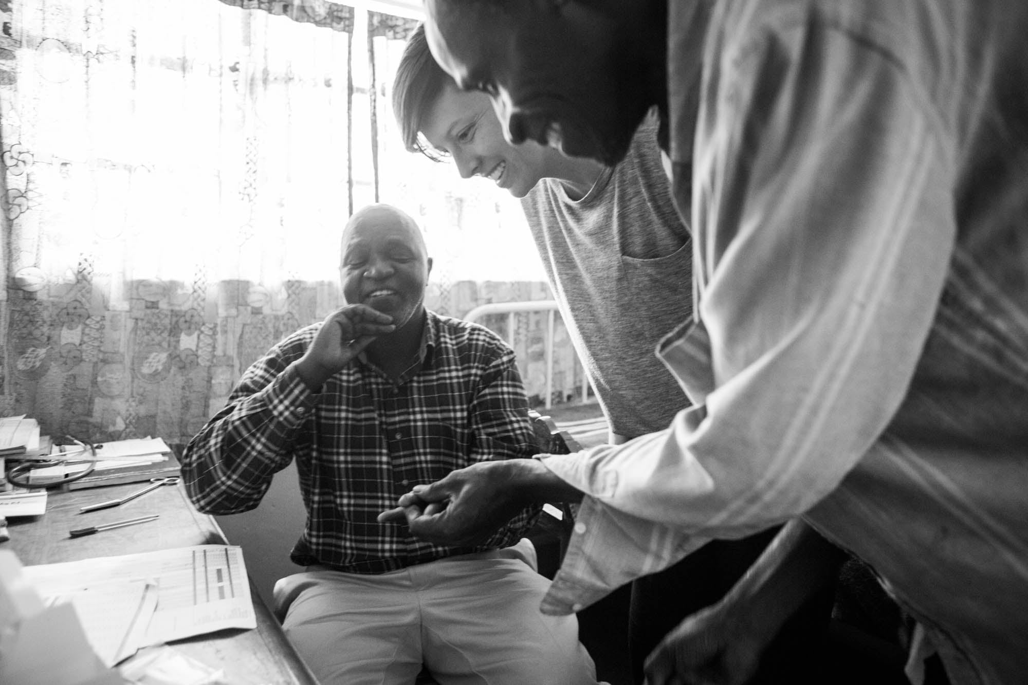 Zambeezi - Pastor Barry receiving care from a clinic he helped to build - ethical, fair trade soap and lip balm