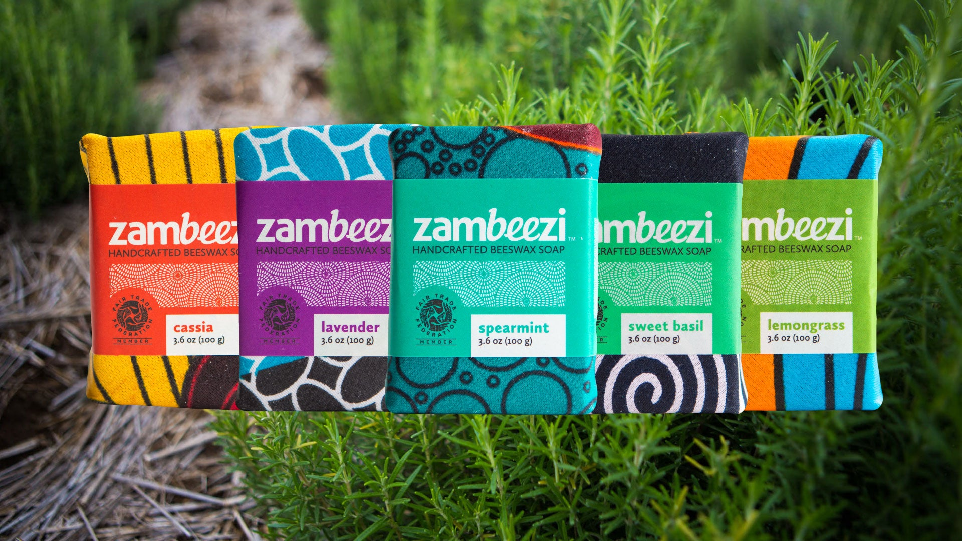 Zambeezi Fair Trade, hand made beeswax soap is crafted from sustainable palm kernel oil