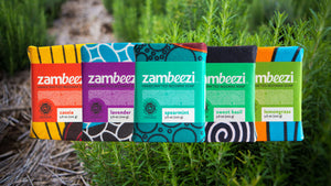 Zambeezi all natural, Fair Trade, handcrafted beeswax soap - best lather for hand washing