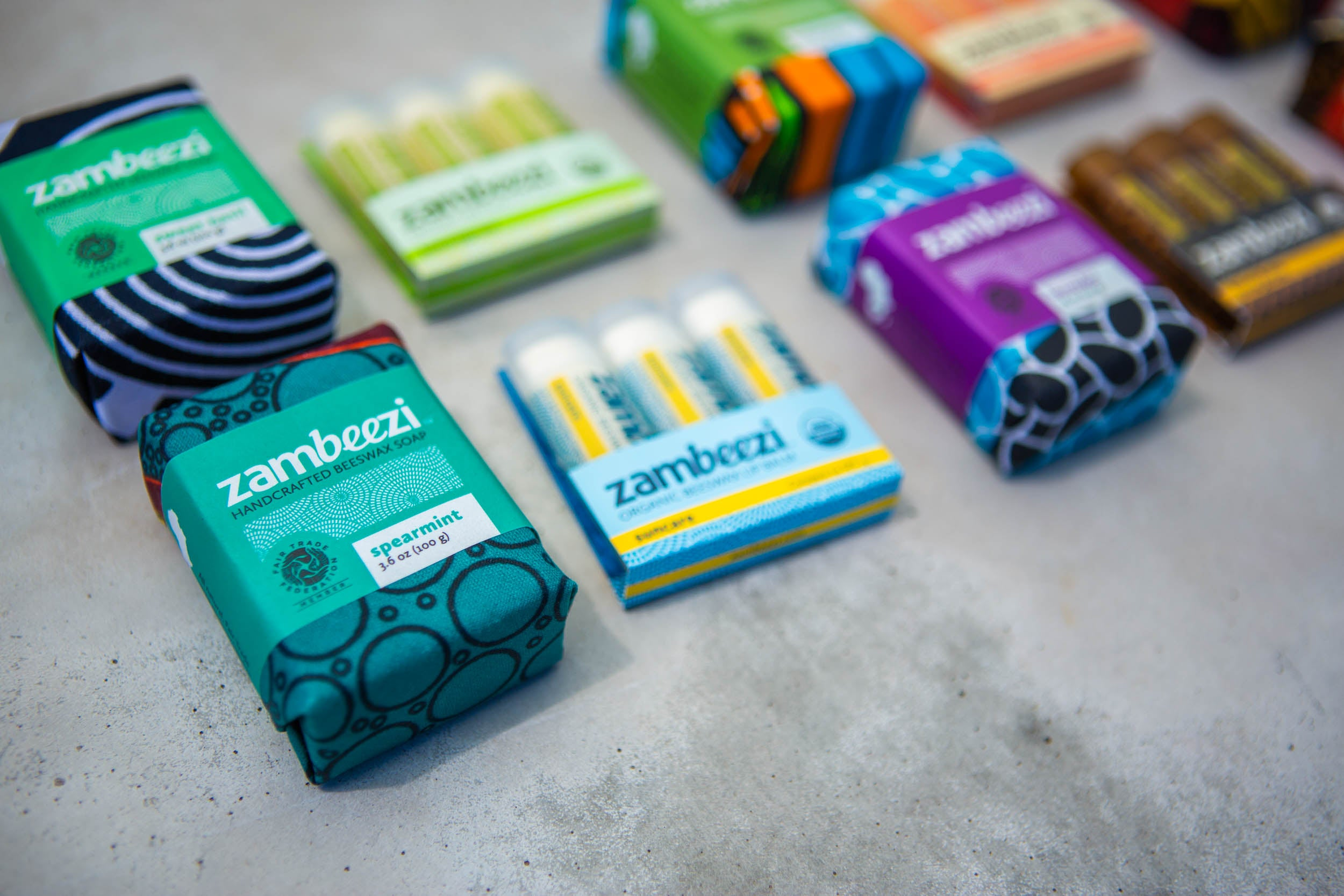 Zambeezi - our collection of organic and fair trade body care - ethical lip balm and soap