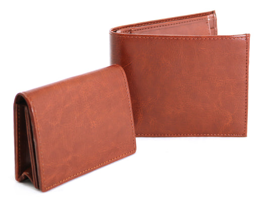 LEATHER WALLET AND CARDHOLDER SET Gilmore Oak - cliqoshop
